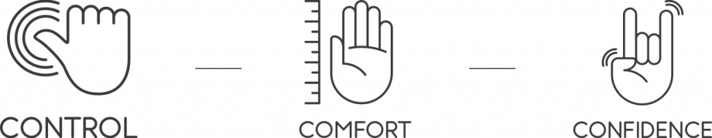 control comfort & confidence